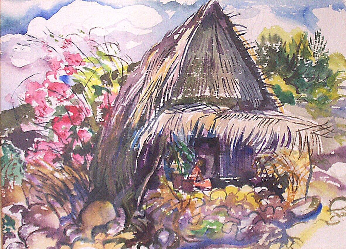 Hut with Bougainvilla