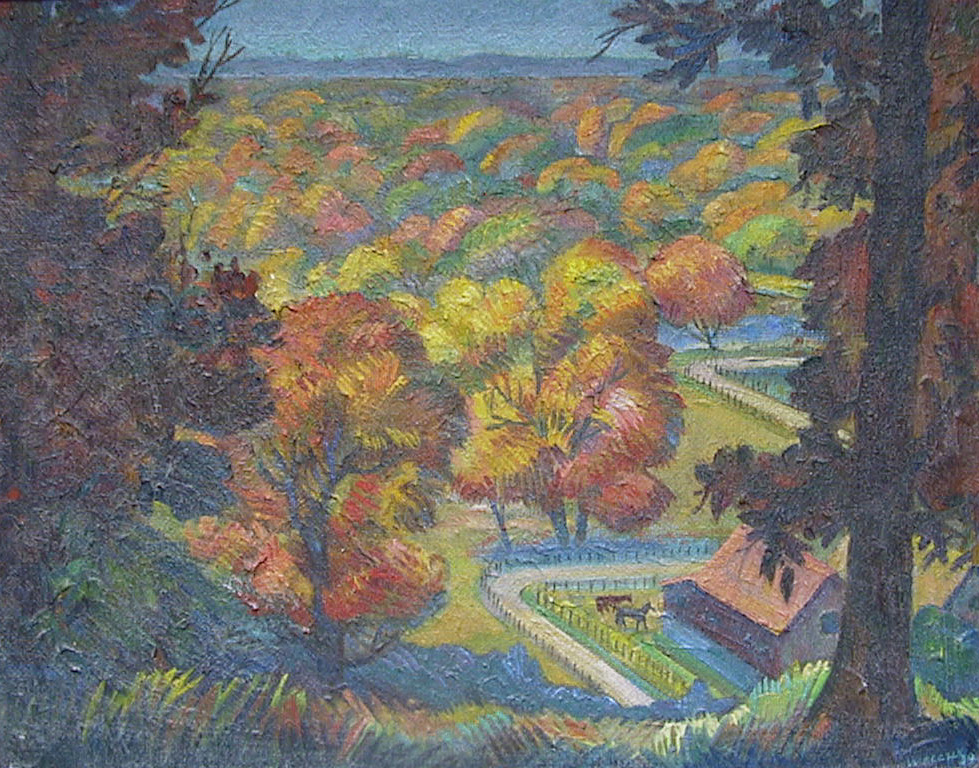 Autumn in the Valley by Harold Kee Welch, 1930