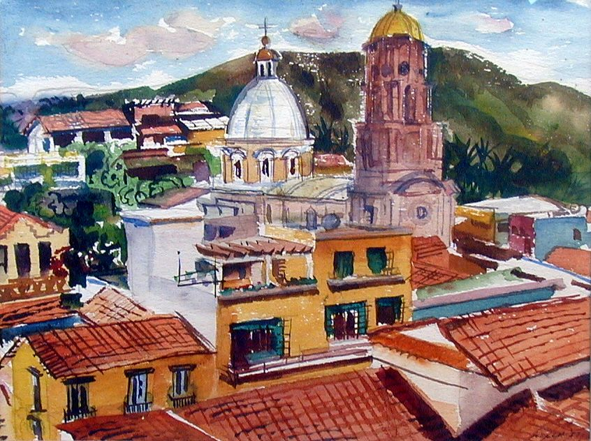 Cathedral by Harold Kee Welch, 1957, Puerta Vallarta series
