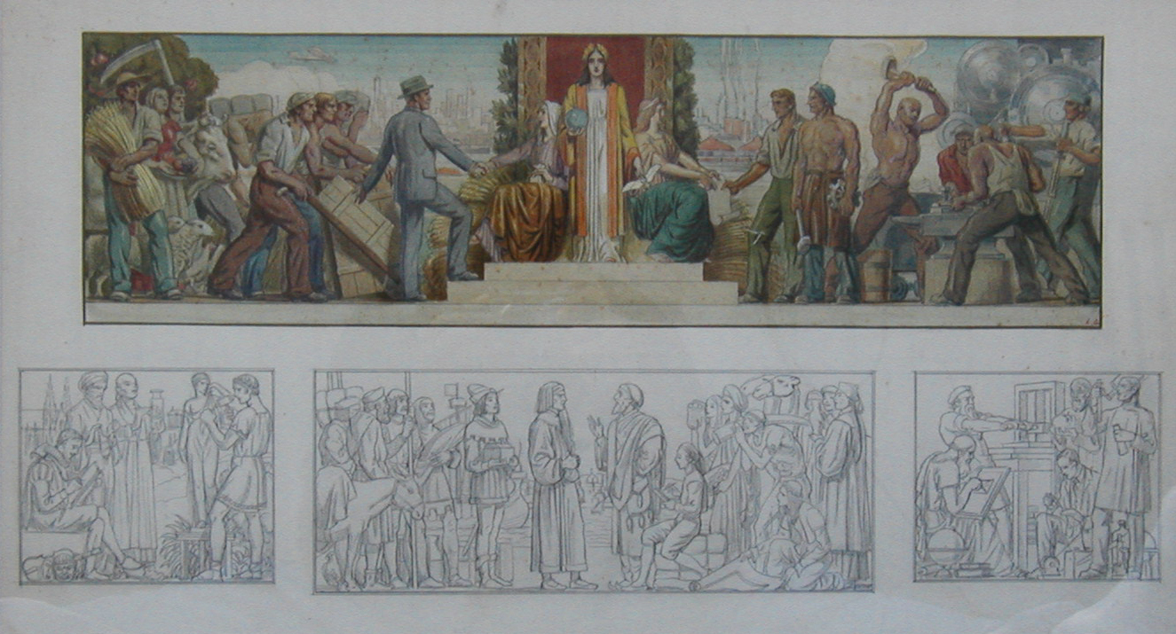 Study for Illinois Mural by Louis Grell
